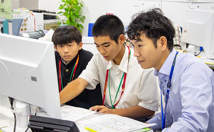沖縄県立 北山高等学校より、インターシップを受け入れました