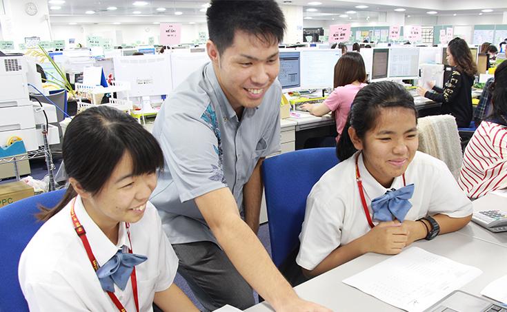 沖縄県立 名護高等学校より、インターシップを受け入れました