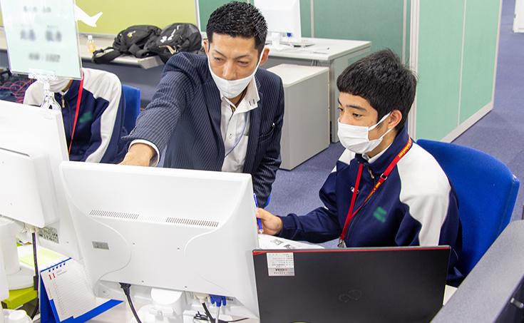 名護市立 羽地中学校より、職場体験を受け入れました。